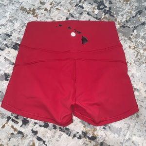 Red lulu shorts